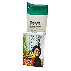Himalaya Herbals Damage Repair Protein Shampoo 200ml + Get Neem and Turmeric Soap, 75g Free