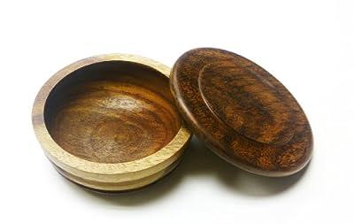 Quality Wood Shaving Soap Bowl. Walnut Finish