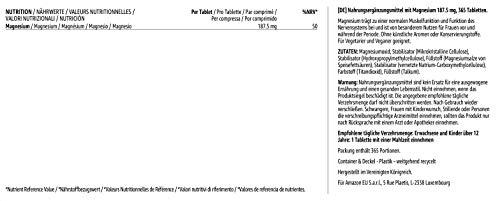 Amazon-Marke: Solimo Nahrungsergänzungsmittel mit Magnesium 375 mg, 365 Tabletten