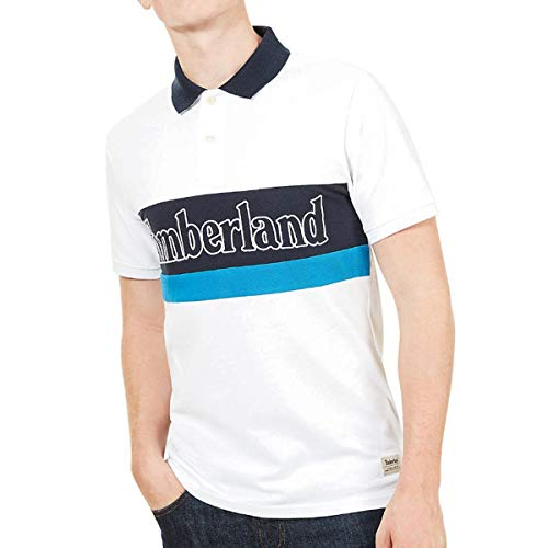 Timberland Polo SS Millers River Colour Block, Polo - L - Timberland Herren Block