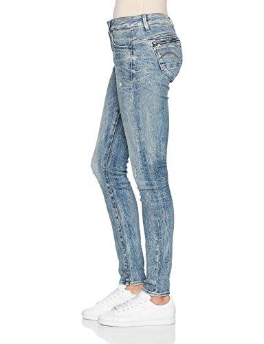 G-STAR RAW Damen Jeans Midge Zip Mid Skinny Wmn Blau (Lt Vintage Aged Destroy 9114)