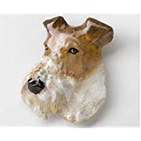 Wire Fox Terrier Painted ~, DP184M Magnete per frigorifero