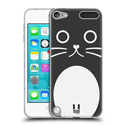 talina Die Katze Comic Tiergesichter Serie 1 Soft Gel Hülle für Apple iPod Touch 5G 5th Gen (5. Gen Ipod Touch-montage)