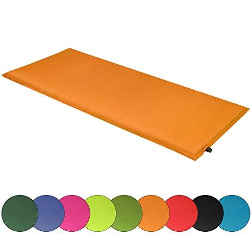 ALPIDEX Isomatte Selfinflating Matte Selbstaufblasende Outdoor Thermomatte in verschiedene Größen und Farben, Farbe:orange, Maße:200 x 66 x 6.0 cm