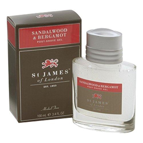 St James of London Sandalwood & Bergamot Post-shave Gel, 100 ml