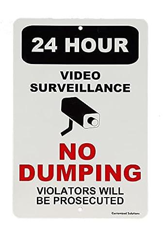 Entrés interdit–cette Propriété est sous surveillance vidéo 24heures–Keep Out–Aluminium 20,3x 30,5cm Sécurité Sign
