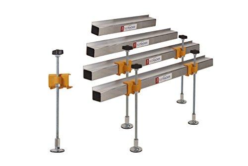 Preisvergleich Produktbild Suretile Tile Tracker 202 Richtwerkzeug zum Verlegen von Fliesen an Wänden, vollständig verstellbar, einsatzbereit in 2Minuten, verhindert das Beschädigen von versteckten Rohren; starke, leichte Aluminiumkonstruktion mit Standfüßen, 300mm