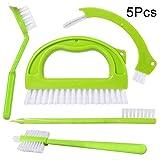 Jusung 5in 1, spazzola di pulizia per piastrelle giunti spazzole scrubber set per pulizia cucina bagno doccia