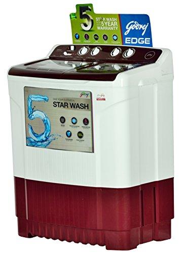 Godrej 7 kg Semi Automatic Top Load Washing Machine (WS EDGE 700 CT, Red & White)