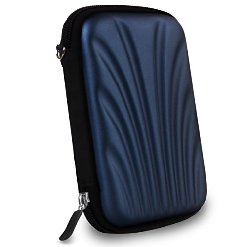 Alexvyan External Hard disk Case Protector with Carry Bag Pouch Sleeve Enclosure for WD My Passport Hard Drive (Blue)
