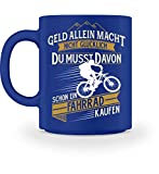 Shirtee Fahrradfahrer Radfahrerin Radler Mountainbike Rennrad Glück Fahrrad kaufen Geschenk - Tasse -M-Royal Blau