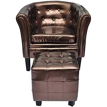 vidaxl edle chesterfield edler sessel lounge sofa wohnzimmer sitzhocker couch k che. Black Bedroom Furniture Sets. Home Design Ideas