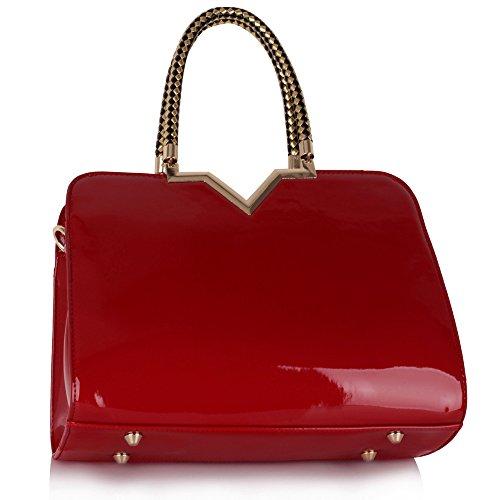 TrendStar Handtaschen Der Frauen Taschen Damenmode Tragetasche Schulterkunstleder Designer Rot