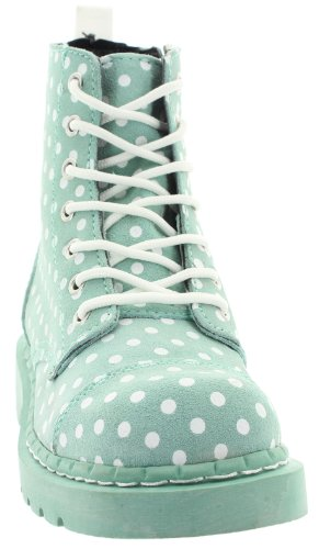 "T.u. k-bottines pOLKA dOT 7 eYE ""- vert/blanc Vert - Menthe"