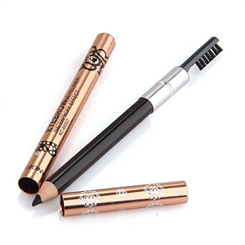 facillar-eyeliner-crayon-noir-etanche-yeux-maquillage-14cm-avec-brosse-a-sourcils
