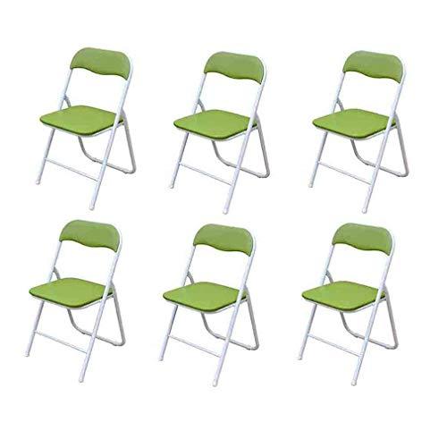 Liuhuan Deluxe Gepolsterte Kunstleder Klappstühle | Starker Stahlrahmen, Bequemer Gepolsterter Sitz , 6er Pack (Color : 03) - Gepolstert 3-sitz