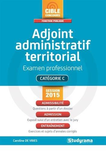 Adjoint Administratif Territorial Session 2015