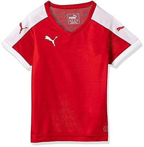 Puma Unisex-Kinder T-Shirt Pitch, rot (Red-White), Gr. 9-10 Jahre (Herstellergröße: 140)