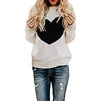 TWBB Damen Pullover Herbst Strickwarenpullover Rundhals Sweater Sweatshirt Winter Lange Ärmel Top Bluse Oberteile