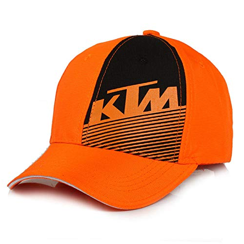 Baseball Cap Motors Racing Team Vintage Gewaschene Denim Baumwolle Sport Unisex @ Orange KTM_Adjustable