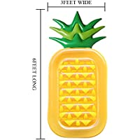 Zantec géant gonflable Ananas flotteur Bain de soleil Lilo piscine plage Matelas gonflable pour enfants et adultes