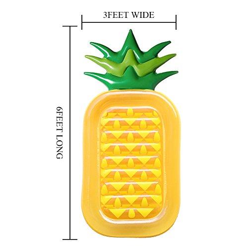 zantec Riesige aufblasbare Ananas Float Sonnenliege Lilo Schwimmbad Strand Air Bett für Kinder und Erwachsene