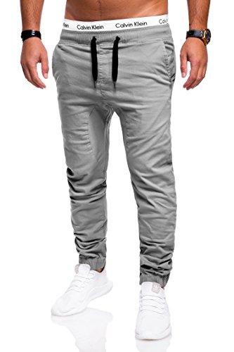 Behype Herren Jeans-Hose Chino Jogger 80-0060 Hellgrau 38
