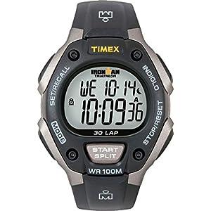 Timex T5E901 - Reloj multifunción Unisex, Color Negro y Gris de Timex