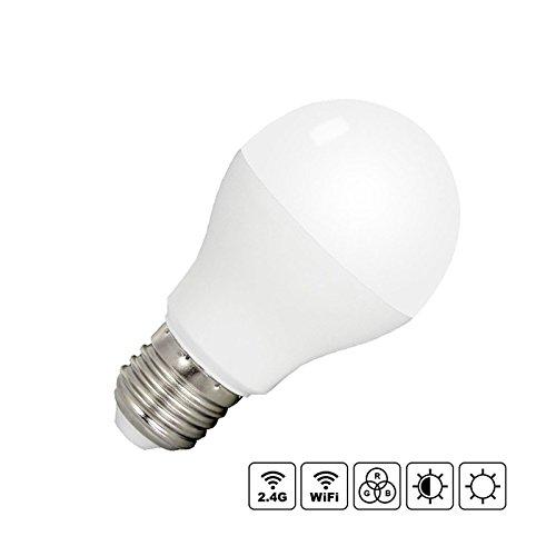 Bombilla LED WiFi E27 Bulb 6W RGB+CCT + Blanco Dual (Cálido + Frío). Bombilla LED E27 Regulable