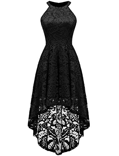 Dressystar Robe pour Mariage Gala Femme Bridesmaid Dress Robe des Années Fêtes DS0028Black XS