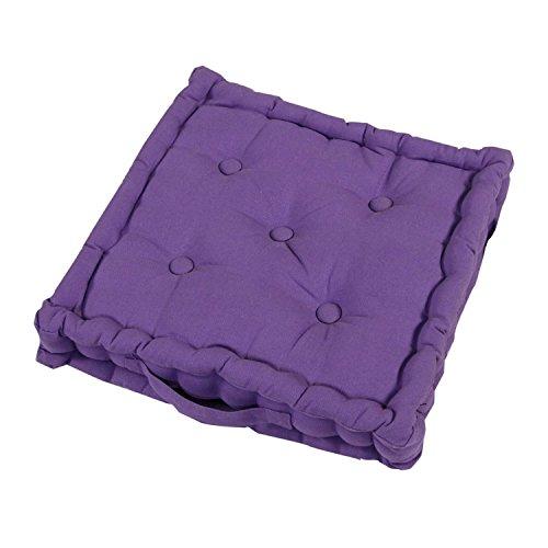 Homescapes Coussin de Chaise de Couleur Violet Fait en 100% Coton de 40x40 cm pour Chaise de Salon et Chaise de Jardin