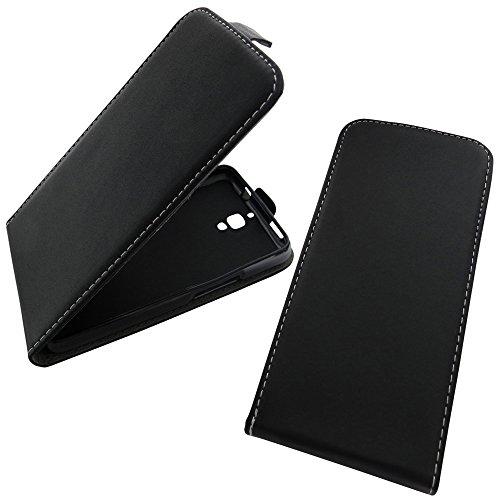 Handyschale24 Flip Case für Nokia 230 / Nokia 230 Dual Sim in schwarz Schutzhülle Klapp Tasche Handytasche Hülle Etui mit Geldschmühelos& Silikon Innencover