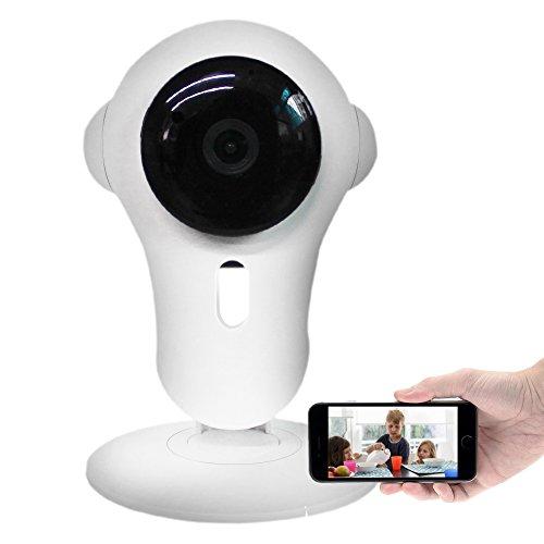 Preisvergleich Produktbild Kapoo 720P intelligente Überwachungskamera, drahtlose Wi-Fi Kamera mit Zweiwegaudio, Nachtsicht, Bewegungs-Abfragung für Ihr intelligentes Telefon