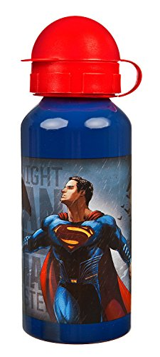 Undercover Trinkflasche Batman, Superman, 400 ml, blau
