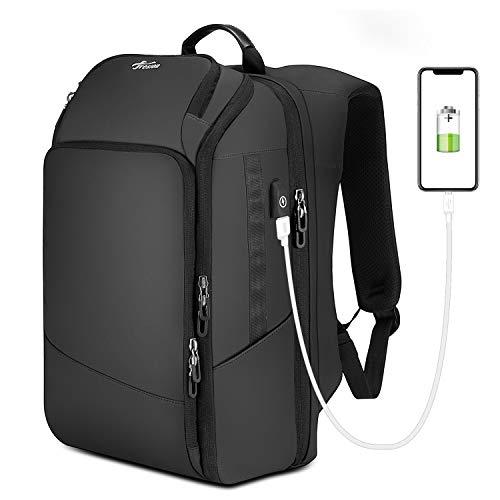 """Herren Rucksäcke - Mode 26L Wasserdicht Reiserucksack - 15.6"""" Laptop/Notebook Rucksack mit USB-Ladeanschluss Für Business Arbeit Reisen Wandern von Fresion(Schwarz)"""
