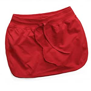 Fashion Sports Leisure Skirt Tight Packet Hip Buttock Skirt Size XXL Red