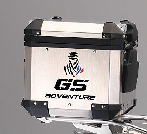 2 Adesivi Sticker Moto R 1200 1150 1100 800 gs adventure Dakar Baule Valigie GRIGIO