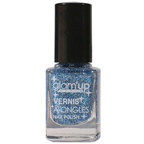 GLAM UP - Vernis à ongle Pailleté SO GLITTER - Blue Argenté