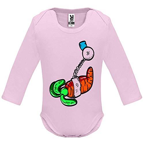 Body bébé - Manche Longue - Carrot - Bébé Fille - Rose - 18MOIS
