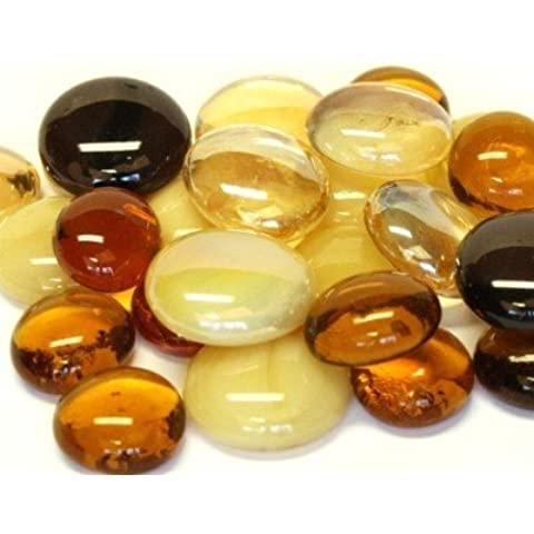 Hobby Island Mosaics - Piedras redondas (cristal), colores marrones