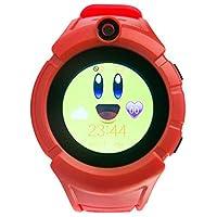 Kids camera 3g children's phone watch gps tracking baby smart watch (RED)