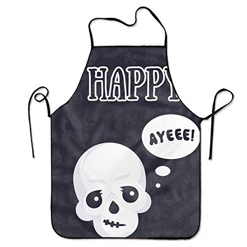 Jhonangel Schürzen Halloween lustige Schädel Schürze Frauen Männer Schürzen für Küche BBQ Reinigung (Juniors Jeans Größe 2)
