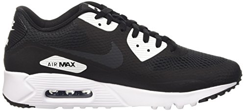 Nike Air Max 90 Ultra Essential, Baskets Basses Homme, Weiß Negro / Gris / Blanco (Black / Anthracite-White)
