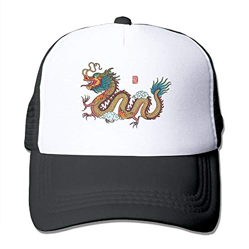 Mesh Baseball Caps Chinese Dragon Style Art Unisex Adjustable Sports Trucker Cap