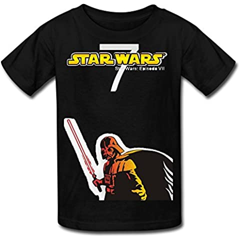 Big Boys'/Girls' Star Wars: The Force Awakens Darth Vader Logo T-Shirt - BlackYILIAX10142XXXX-L