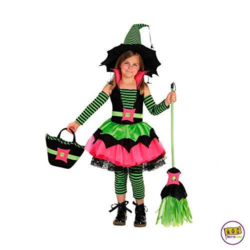 Spiderina Kind Kostüm - Mottoland Kinder Kostüm Spiderina Hexe Mädchen Kleid grün pink Fasching Kita: Größe: S