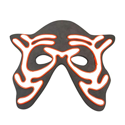Papst Katze Kostüm - Hffan Halloween Maske Led Masken Glow Scary Maske Leuchten Tanz Maske Halbe Gesichtsmaske Masquerade Requisiten Party Kostüm Gesichtsmaske Cosplay Karneval Kopfmask
