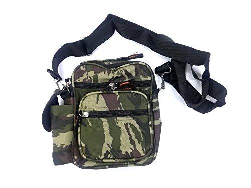 takestop Tasche Camouflage grün zufällig Umhängetasche Tasche Hüfttasche Handtasche Stoff Vintage Casual Dokumente Gegenstände -