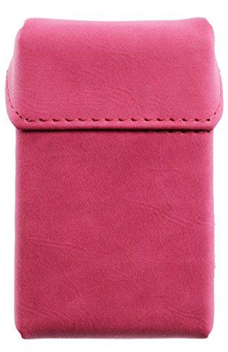 Hochwertiges Alcantara Zigaretten Etui für Zigarettenschachteln Zigarettenbox Zigarettencase (pink)