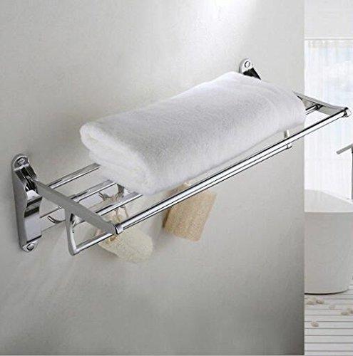 Addensato asciugamano rack in acciaio inox pieghevole scaffali asciugamano rack Servizi igienici